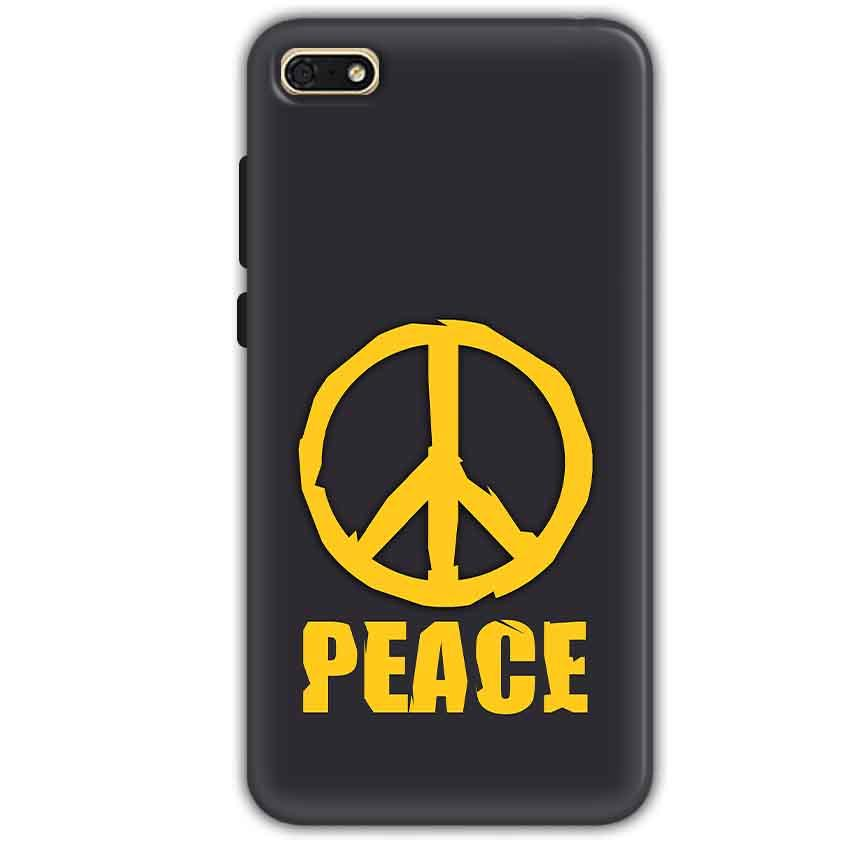 Huawei Honor 7s Mobile Covers Cases Peace Blue Yellow - Lowest Price - Paybydaddy.com