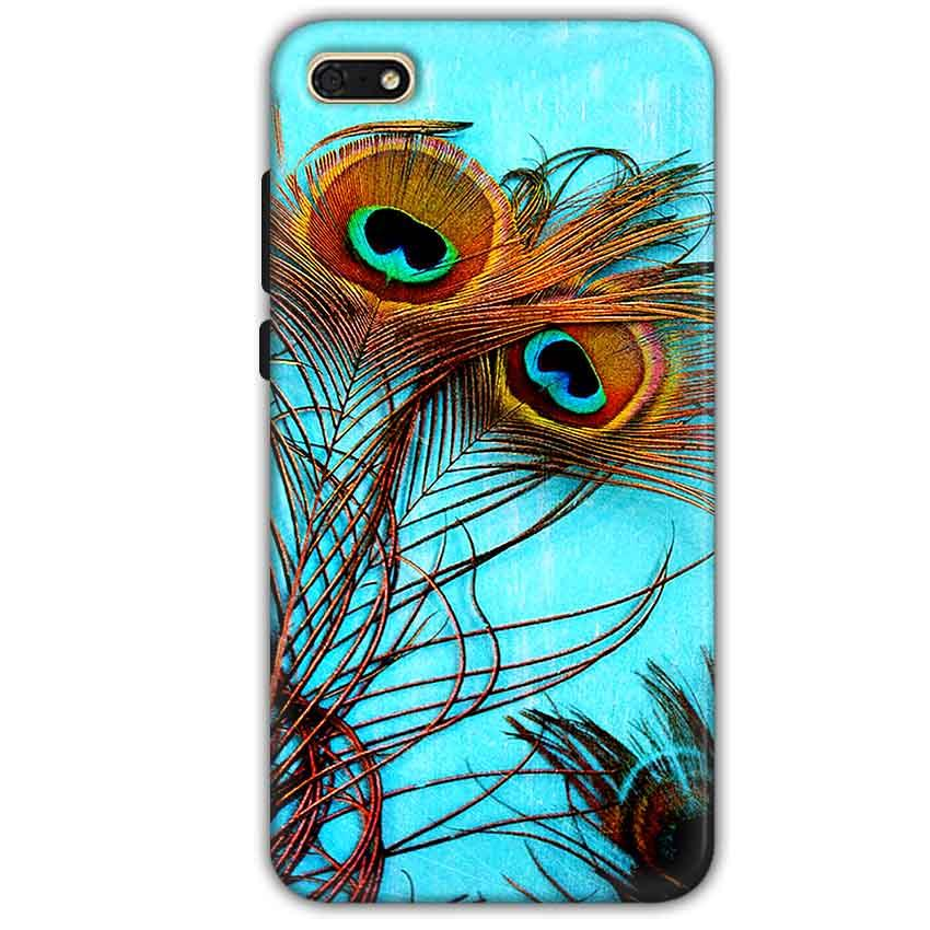 Huawei Honor 7s Mobile Covers Cases Peacock blue wings - Lowest Price - Paybydaddy.com