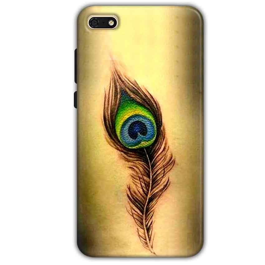 Huawei Honor 7s Mobile Covers Cases Peacock coloured art - Lowest Price - Paybydaddy.com