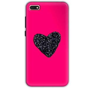 Huawei Honor 7s Mobile Covers Cases Pink Glitter Heart - Lowest Price - Paybydaddy.com
