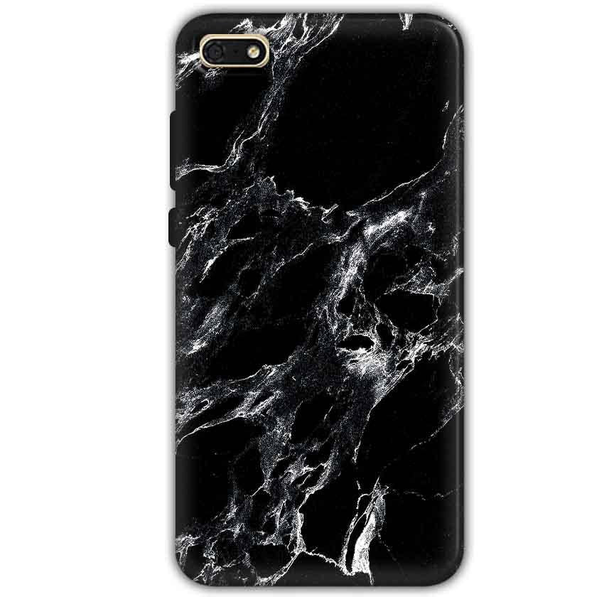 Huawei Honor 7s Mobile Covers Cases Pure Black Marble Texture - Lowest Price - Paybydaddy.com