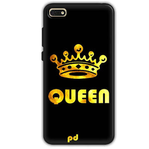 Huawei Honor 7s Mobile Covers Cases Queen With Crown in gold - Lowest Price - Paybydaddy.com