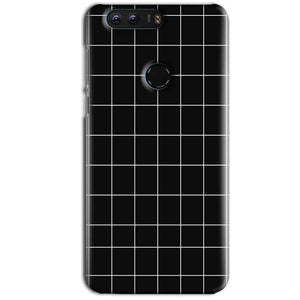 Huawei Honor 8 Mobile Covers Cases Black with White Checks - Lowest Price - Paybydaddy.com