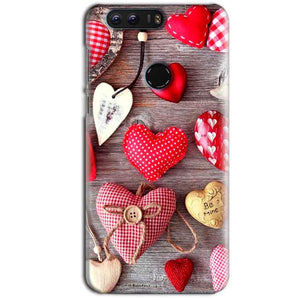 Huawei Honor 8 Mobile Covers Cases Hearts- Lowest Price - Paybydaddy.com