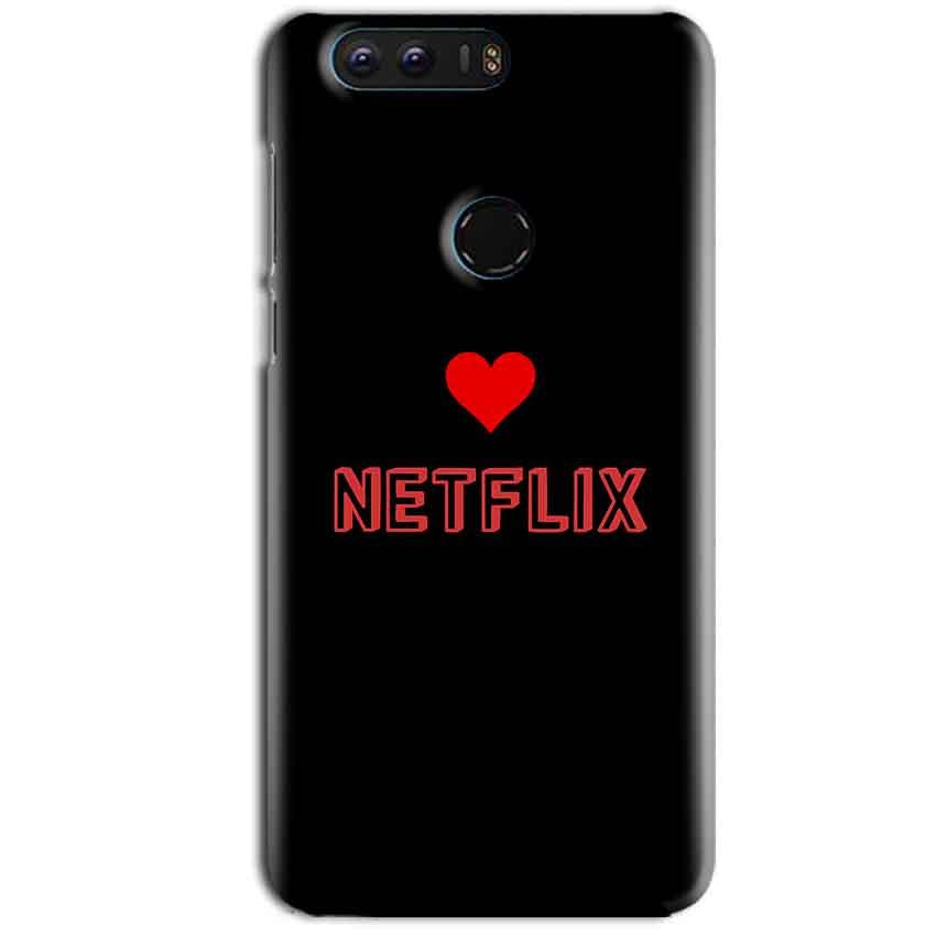 Huawei Honor 8 Mobile Covers Cases NETFLIX WITH HEART - Lowest Price - Paybydaddy.com