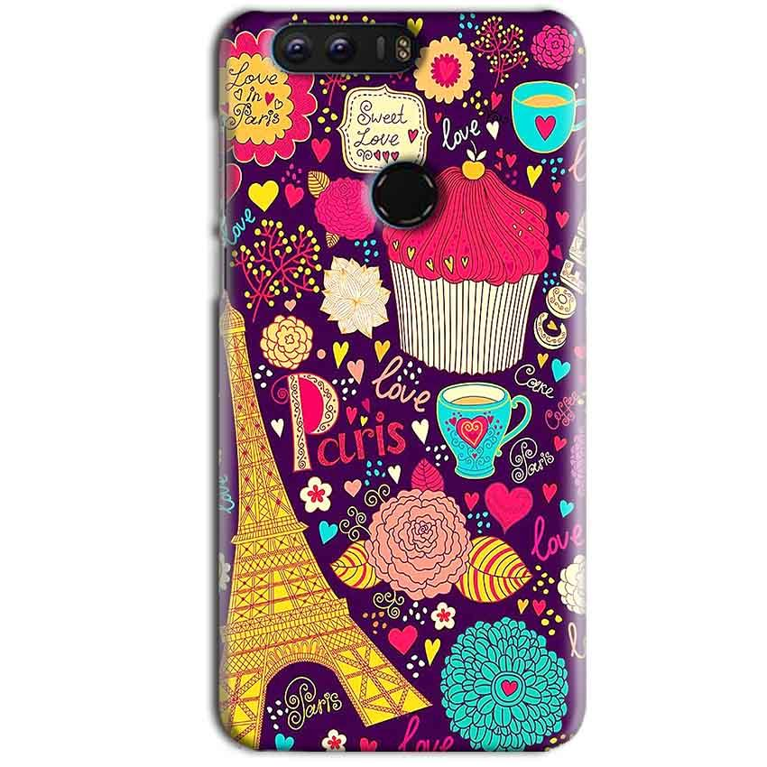 Huawei Honor 8 Mobile Covers Cases Paris Sweet love - Lowest Price - Paybydaddy.com