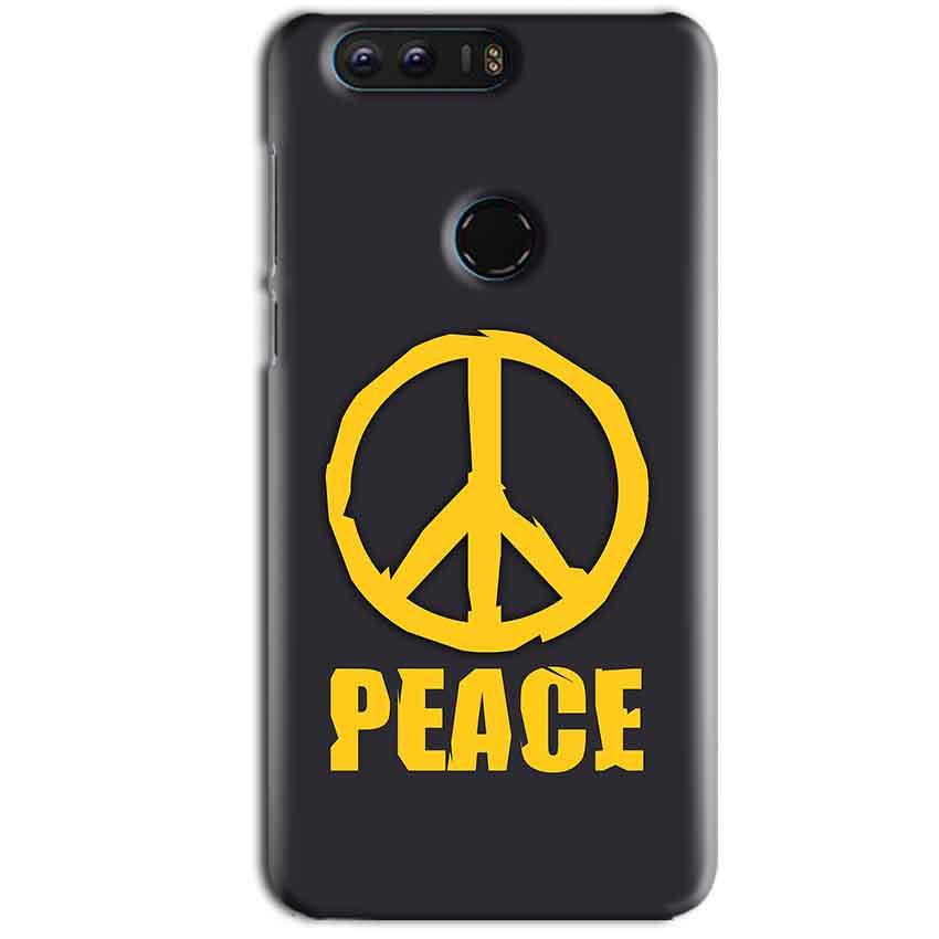 Huawei Honor 8 Mobile Covers Cases Peace Blue Yellow - Lowest Price - Paybydaddy.com