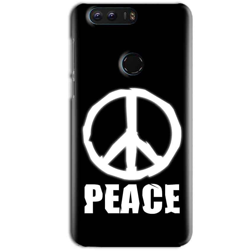 Huawei Honor 8 Mobile Covers Cases Peace Sign In White - Lowest Price - Paybydaddy.com