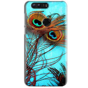 Huawei Honor 8 Mobile Covers Cases Peacock blue wings - Lowest Price - Paybydaddy.com