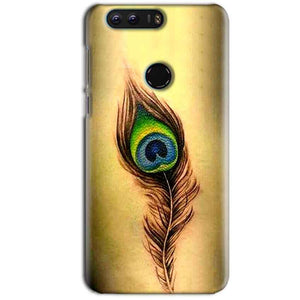 Huawei Honor 8 Mobile Covers Cases Peacock coloured art - Lowest Price - Paybydaddy.com
