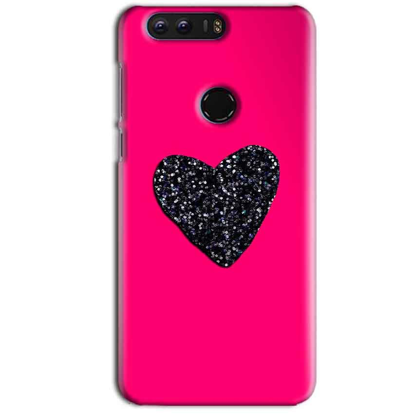 Huawei Honor 8 Mobile Covers Cases Pink Glitter Heart - Lowest Price - Paybydaddy.com