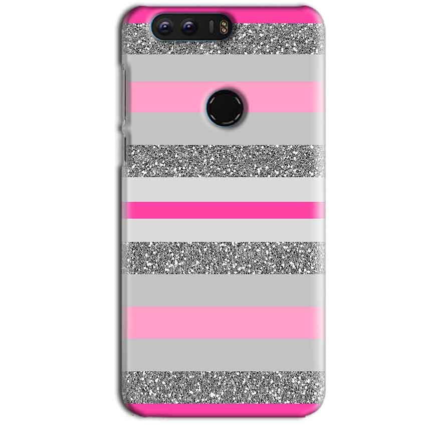 Huawei Honor 8 Mobile Covers Cases Pink colour pattern - Lowest Price - Paybydaddy.com