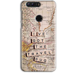 Huawei Honor 8 Pro Mobile Covers Cases Live Travel Bug - Lowest Price - Paybydaddy.com
