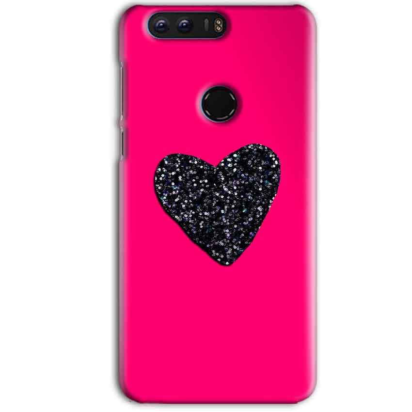 Huawei Honor 8 Pro Mobile Covers Cases Pink Glitter Heart - Lowest Price - Paybydaddy.com