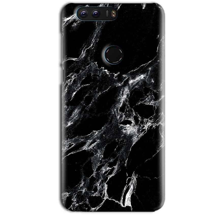 Huawei Honor 8 Mobile Covers Cases Pure Black Marble Texture - Lowest Price - Paybydaddy.com