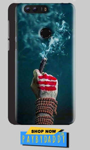 Huawei Honor 8 Mobile Covers Cases Shiva Hand With Clilam - Lowest Price - Paybydaddy.com