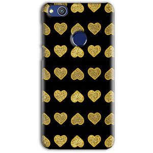 Huawei Honor 8 lITE Golden Little Mobile Covers Cases Hearts- Lowest Price - Paybydaddy.com