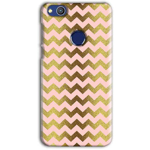 Huawei Honor 8 lITE Mobile Covers Cases Golden Zig Zag Pattern - Lowest Price - Paybydaddy.com