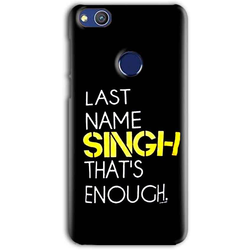 Huawei Honor 8 lITE Mobile Covers Cases Last Name Singh- Lowest Price - Paybydaddy.com