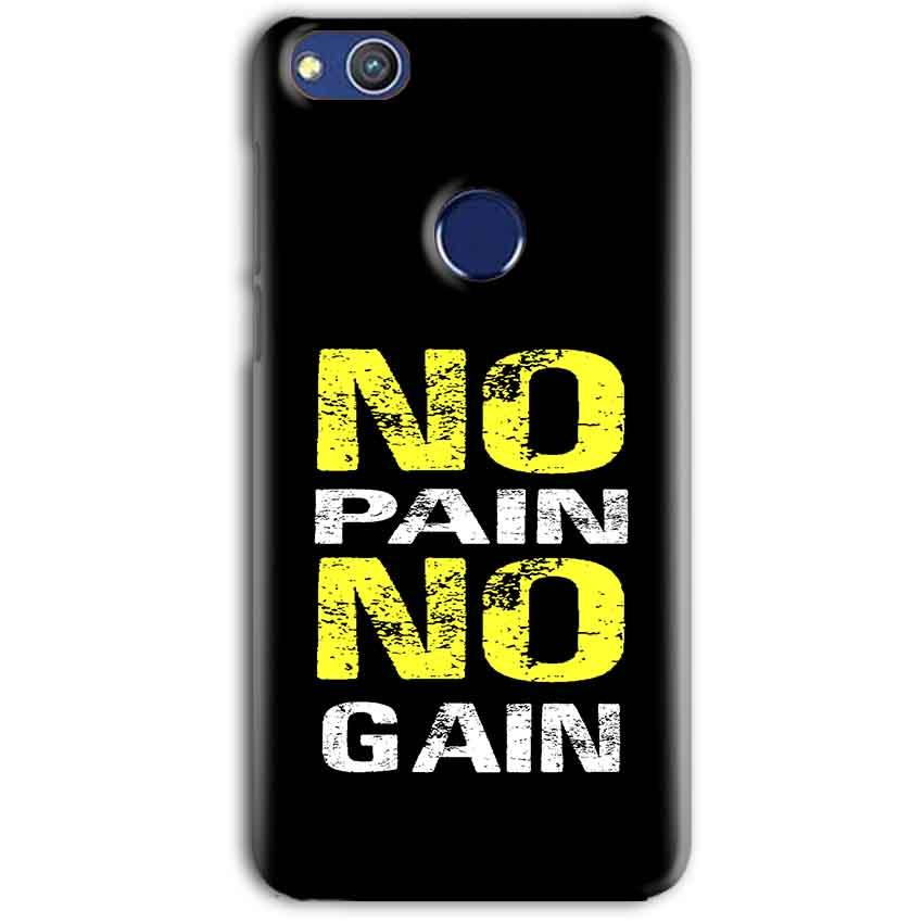 Huawei Honor 8 lITE Mobile Covers Cases No Pain No Gain Yellow Black - Lowest Price - Paybydaddy.com