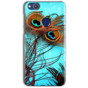 Huawei Honor 8 lITE Mobile Covers Cases Peacock blue wings - Lowest Price - Paybydaddy.com