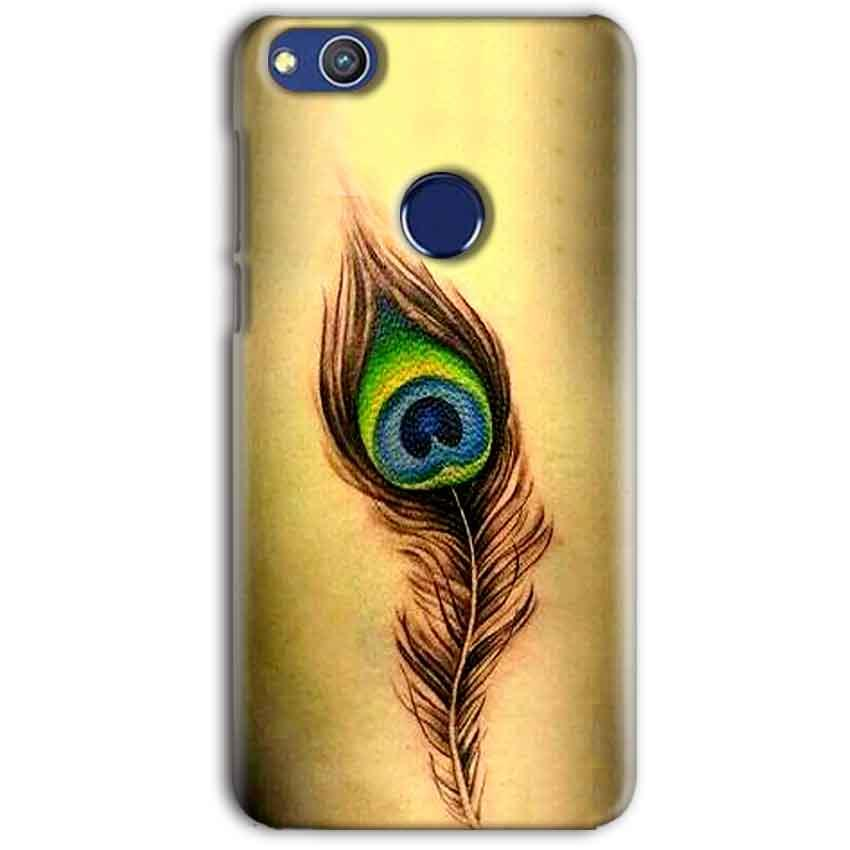 Huawei Honor 8 lITE Mobile Covers Cases Peacock coloured art - Lowest Price - Paybydaddy.com