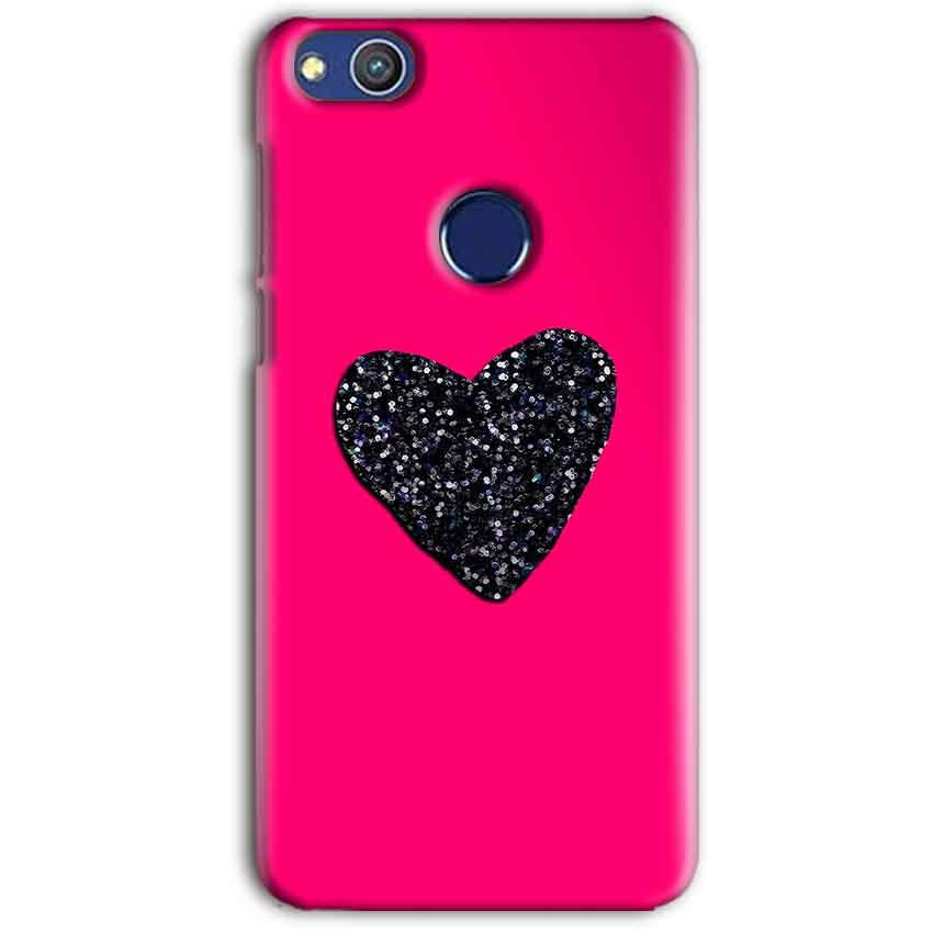 Huawei Honor 8 lITE Mobile Covers Cases Pink Glitter Heart - Lowest Price - Paybydaddy.com