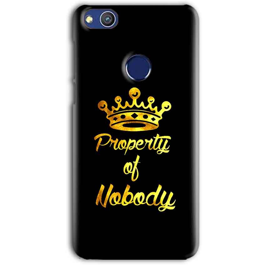 Huawei Honor 8 lITE Mobile Covers Cases Property of nobody with Crown - Lowest Price - Paybydaddy.com