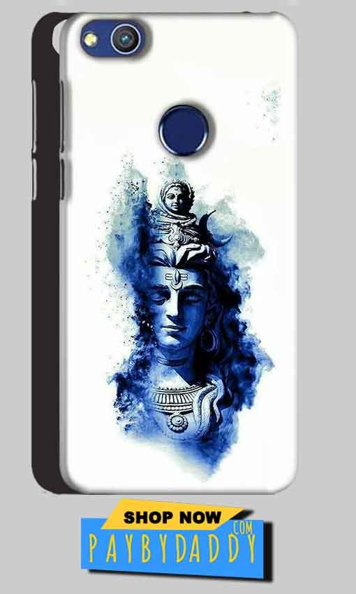 Huawei Honor 8 lITE Mobile Covers Cases Shiva Blue White - Lowest Price - Paybydaddy.com