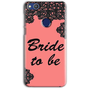Huawei Honor 8 lITE Mobile Covers Cases Mobile Covers Cases bride to be with ring Black Pink - Lowest Price - Paybydaddy.com