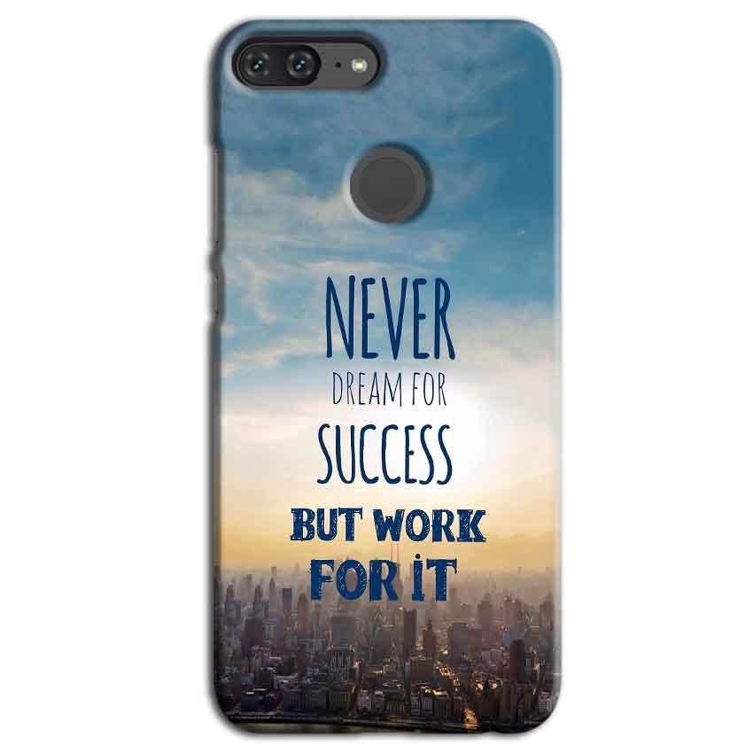 Huawei Honor 9 Lite Mobile Covers Cases Never Dreams For Success But Work For It Quote - Lowest Price - Paybydaddy.com