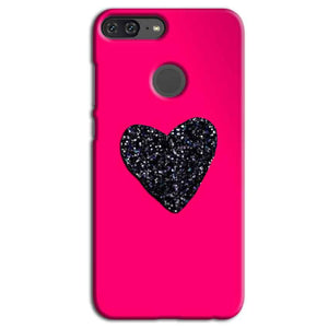 Huawei Honor 9 Lite Mobile Covers Cases Pink Glitter Heart - Lowest Price - Paybydaddy.com