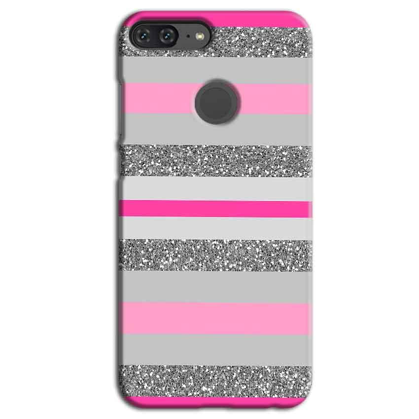 first rate 76b40 94055 Huawei Honor 9 Lite Pink colour pattern Back Cover