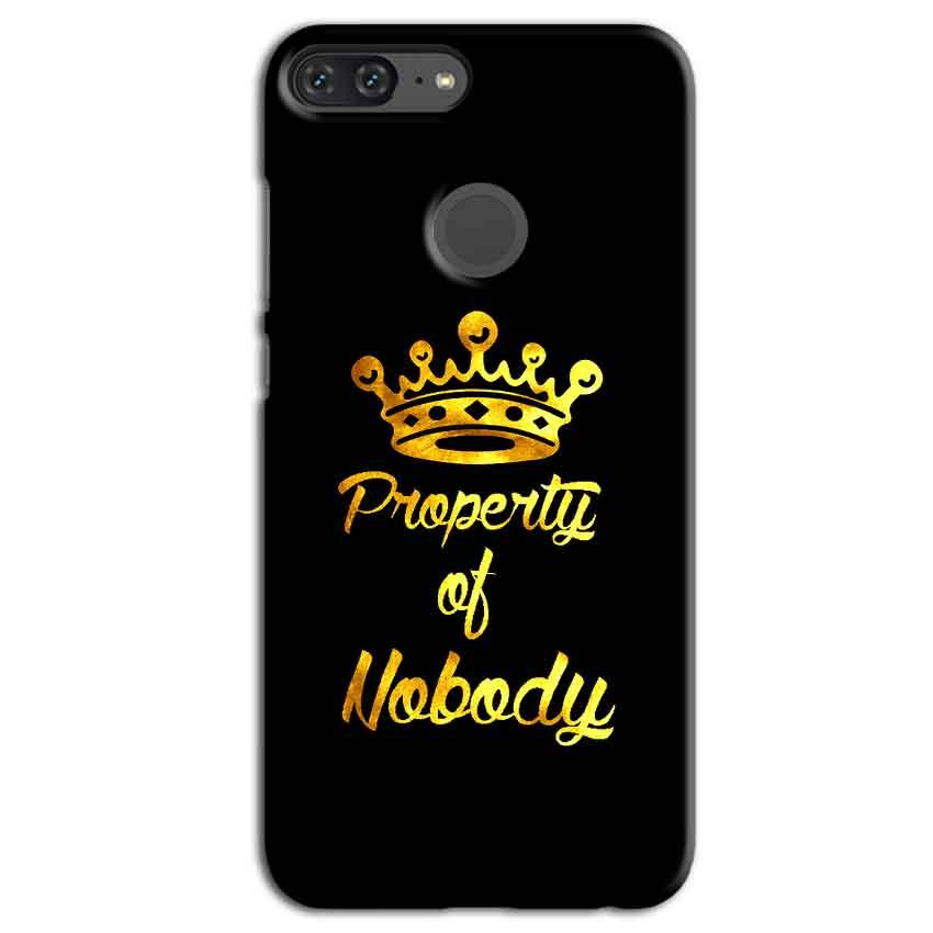 Huawei Honor 9 Lite Mobile Covers Cases Property of nobody with Crown - Lowest Price - Paybydaddy.com