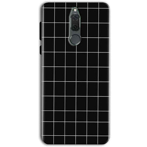 Huawei Honor 9i Mobile Covers Cases Black with White Checks - Lowest Price - Paybydaddy.com