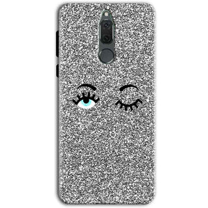 Huawei Honor 9i Mobile Covers Cases Glitter Eye Wink - Lowest Price - Paybydaddy.com
