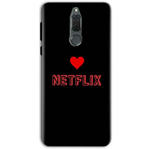 Huawei Honor 9i Mobile Covers Cases NETFLIX WITH HEART - Lowest Price - Paybydaddy.com
