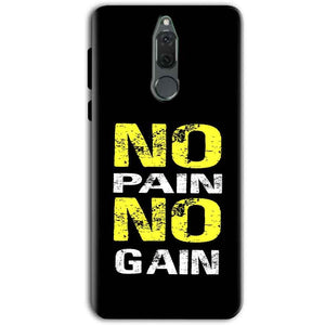 Huawei Honor 9i Mobile Covers Cases No Pain No Gain Yellow Black - Lowest Price - Paybydaddy.com