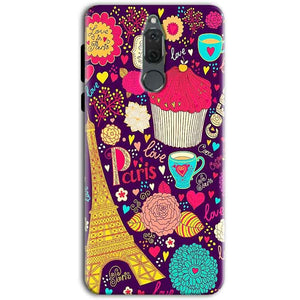 Huawei Honor 9i Mobile Covers Cases Paris Sweet love - Lowest Price - Paybydaddy.com