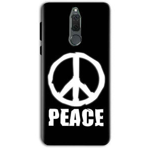 Huawei Honor 9i Mobile Covers Cases Peace Sign In White - Lowest Price - Paybydaddy.com