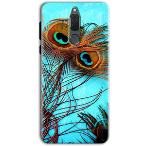 Huawei Honor 9i Mobile Covers Cases Peacock blue wings - Lowest Price - Paybydaddy.com