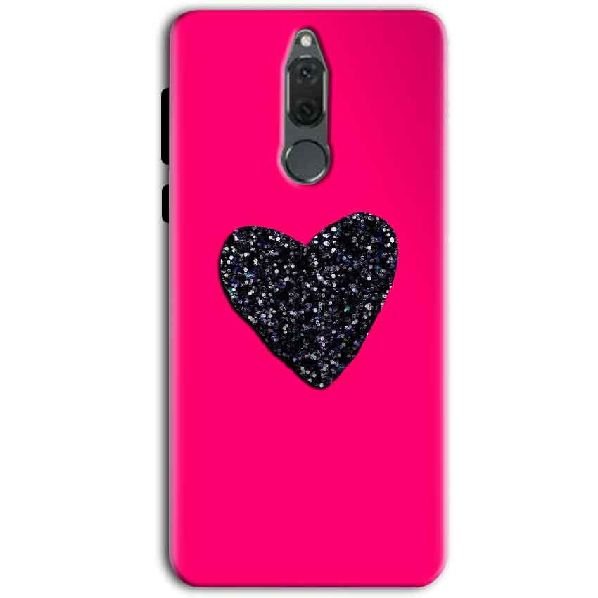 Huawei Honor 9i Mobile Covers Cases Pink Glitter Heart - Lowest Price - Paybydaddy.com