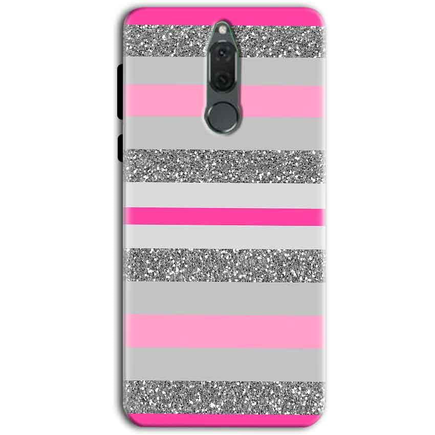 Huawei Honor 9i Mobile Covers Cases Pink colour pattern - Lowest Price - Paybydaddy.com