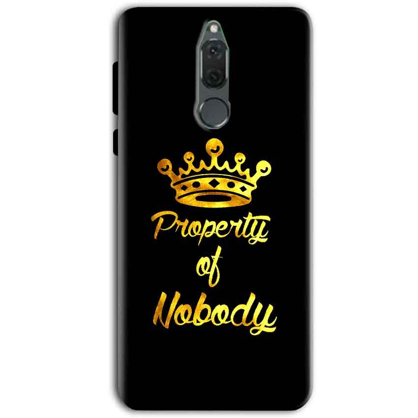 Huawei Honor 9i Mobile Covers Cases Property of nobody with Crown - Lowest Price - Paybydaddy.com