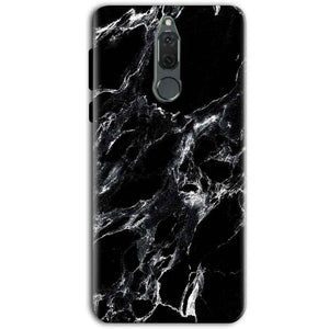 Huawei Honor 9i Mobile Covers Cases Pure Black Marble Texture - Lowest Price - Paybydaddy.com