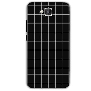 Huawei Honor Holly 2 Plus Mobile Covers Cases Black with White Checks - Lowest Price - Paybydaddy.com