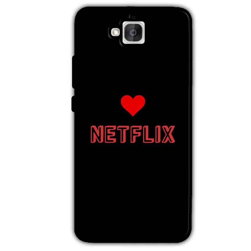 Huawei Honor Holly 2 Plus Mobile Covers Cases NETFLIX WITH HEART - Lowest Price - Paybydaddy.com