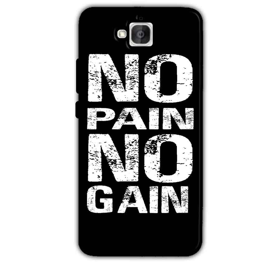 Huawei Honor Holly 2 Plus Mobile Covers Cases No Pain No Gain Black And White - Lowest Price - Paybydaddy.com
