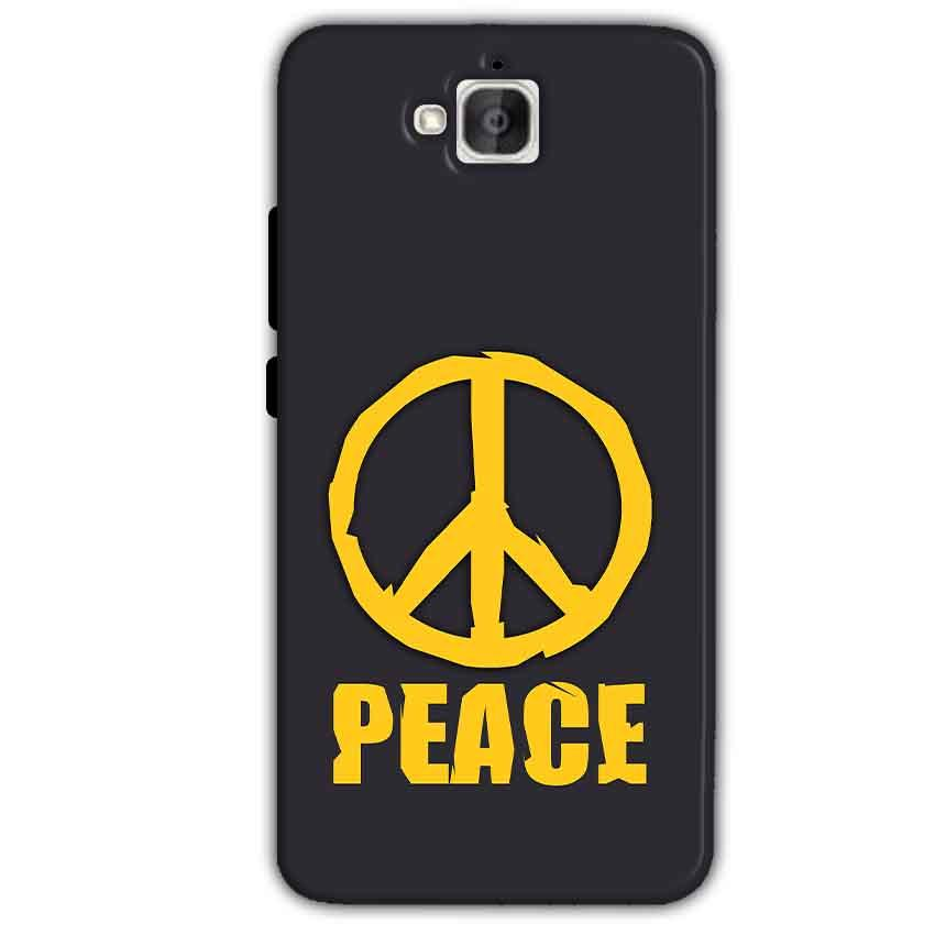 Huawei Honor Holly 2 Plus Mobile Covers Cases Peace Blue Yellow - Lowest Price - Paybydaddy.com