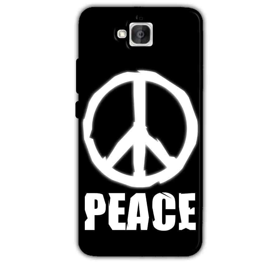 Huawei Honor Holly 2 Plus Mobile Covers Cases Peace Sign In White - Lowest Price - Paybydaddy.com